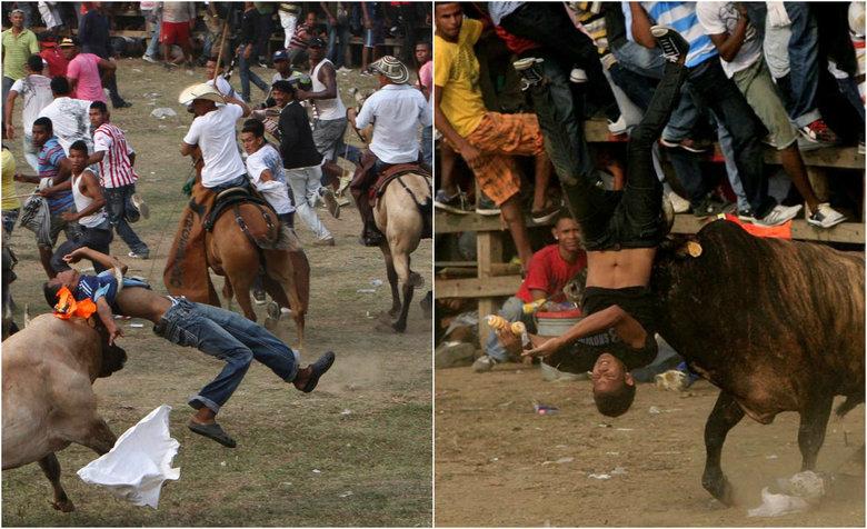 Resultado de imagem para Tourada deixa dezenas de feridos