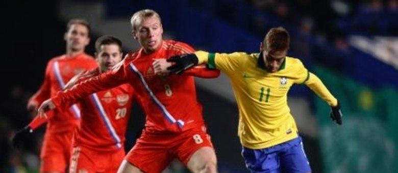 Neymar foi bem marcado pelos jogadores da Rússia e pouco produziu no empate  brasileiro em Londres 5c12d9296fae0