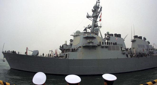 O USS Fitzgerald foi transferido para o sudoeste da península coreana, em vez de retornar para seu porto de origem, no Japão