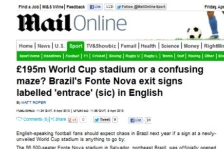 Jornal inglês chama Fonte Nova de labirinto