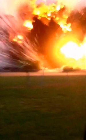 Explosão foi captada em vídeo