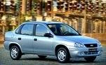 7) Chevrolet Classic Vendas Brasil: 1.500.000 unidades