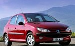 23) Peugeot 206 Vendas Brasil: 348.862 unidades