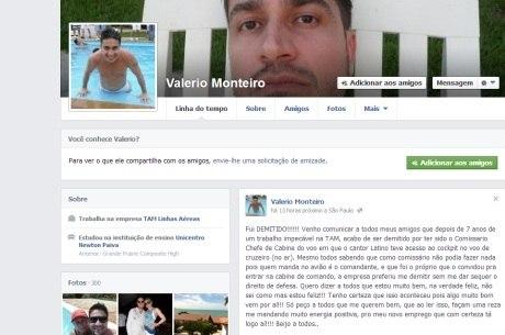Comissário demitido da TAM por causa de Latino faz desabafo em rede social