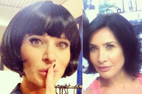 Dani Bananinha com os cabelos negros: a cara da Scheila Carvalho