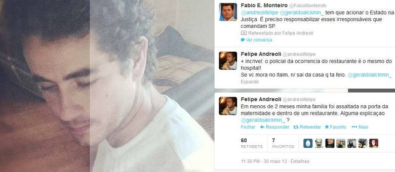 O jornalista utilizou seu perfil no Twitter com mais de 1,5 milhão de seguidores para cobrar ação de Alckmin
