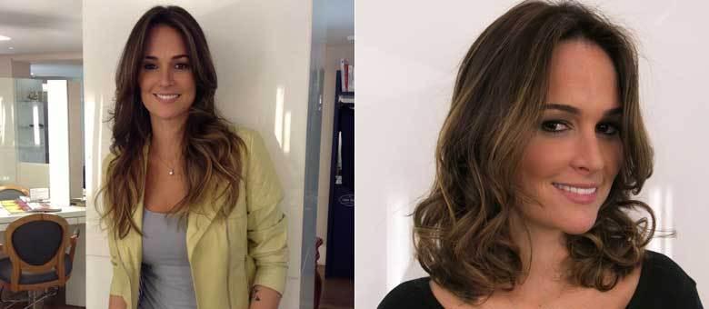 Priscila se sentiu mais jovem ao mudar o comprimento dos cabelos, e escurecer as pontas: a cara do inverno!