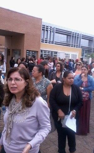 Candidatos deixaram o prédio após não ter sala de prova ou não receber provas no horário