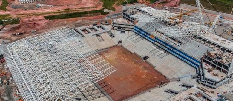 Itaquerão está com obras avançadas para receber a Copa do Mundo, em junho de 2014
