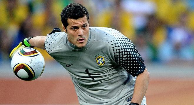 Júlio César defendeu a seleção brasileira eu três Copas