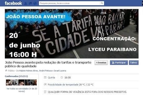 Protesto pede a diminuição do valor da passagem em João Pessoa