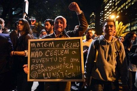 Último protesto foi marcado pela diversidade dos manifestantes