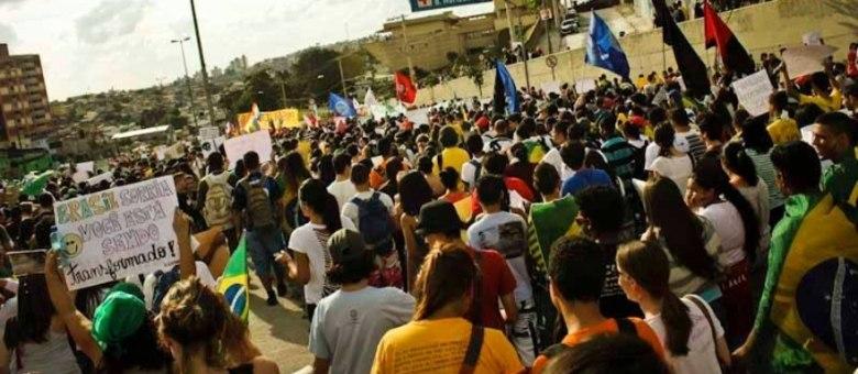 Entidades estudantis e sindicatos participam do protesto
