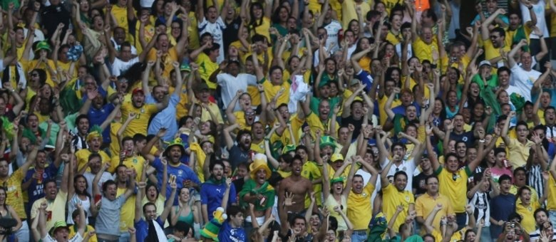 Torcedor brasileiro foi o grande responsável pela vitória sobre o Uruguai, segundo o técnico Felipão