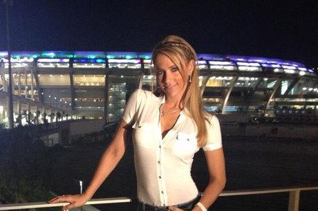 Inés esteve no Maracanã para a final da Copa das Confederações