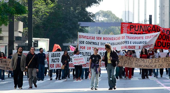 Manifestação fechou a avenida Paulista, mas população não chegou a reclamar do trânsito na cidade