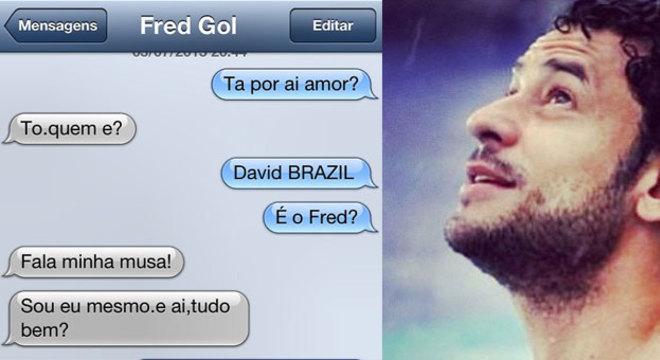 """David Brazil se derrete ao ser chamado de """"musa"""" por Fred"""