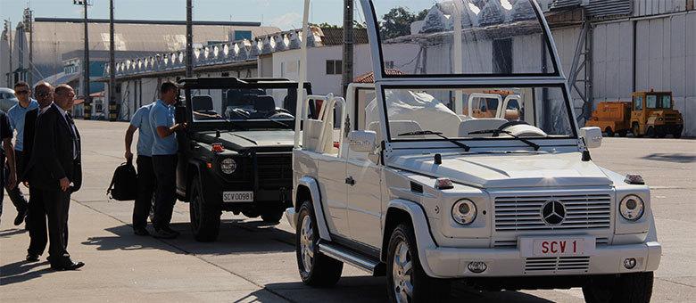 Veículos serão usados durante a Jornada Mundial da Juventude, no Rio, e na visita ao Santuário de Aparecida (SP)