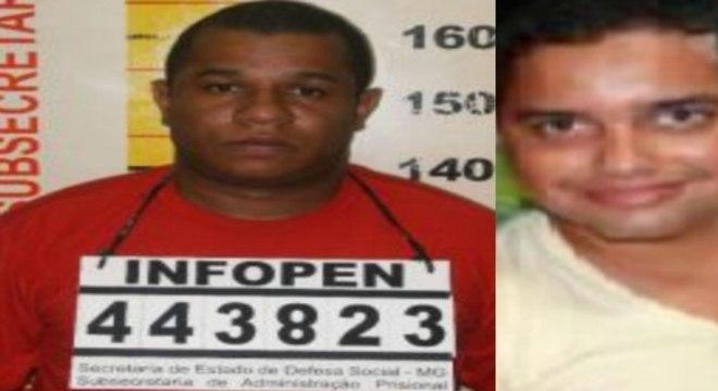 Alessandro Neves (e) é apontado como assassino dos dois repórteres; Lucio Leal (d) é policial e também foi indiciado pela morte de Rodrigo Neto