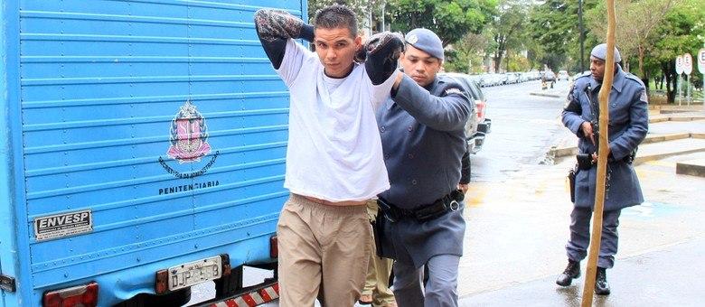 Traficante Lucas Escotão foi um dos levados a Campinas para participar de acareação com policiais do Denarc