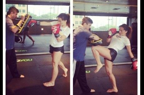 Sabrina mostrou suas qualidades em artes marciais