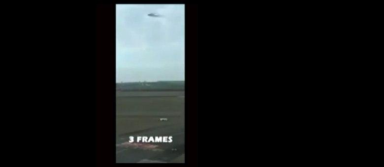 Este é apenas um relance do que o vídeo mostra... Será mesmo uma nave espacial?