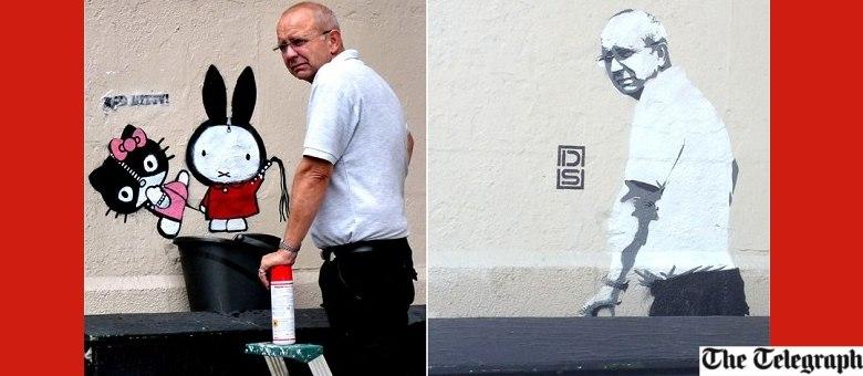 O que você acha? Ele é mais bonito na vida ou é mais bonito na arte urbana?