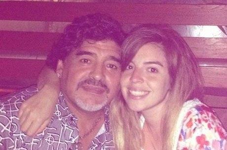 Maradona e Dalma, filha mais velha do craque