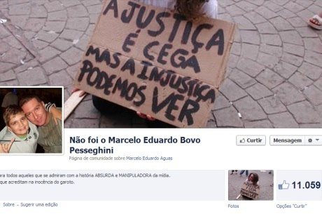 Página em rede social defende inocência de menino suspeito de matar família