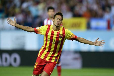 Neymar marcou o seu primeiro gol em jogos oficiais pelo Barça