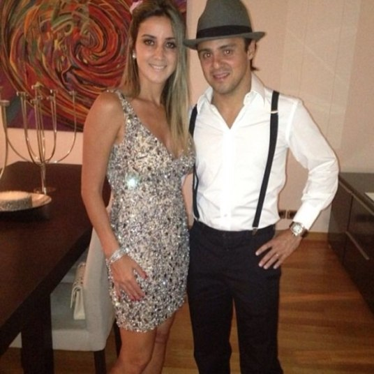 Felipe Massa derrapa no estilo em festa com a mulher ... Felipe Massa Instagram