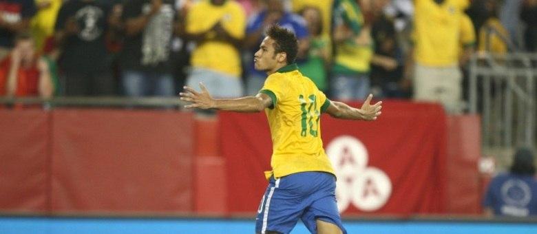Camisa 10 Neymar, mais uma vez, foi o detaque da vitória da seleção brasileira