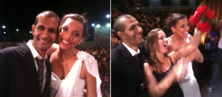 Alan e Daniele foram os noivos de 2013 no Rock in Rio. Luciana pegou o buquê e promete arranjar um noivo para 2015