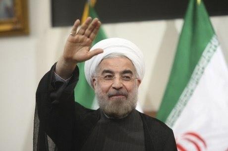 O presidente Hassan Rohani tenta reeleição no Irã