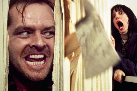Acima, cena clássica de Jack Nicholson em O Iluminado