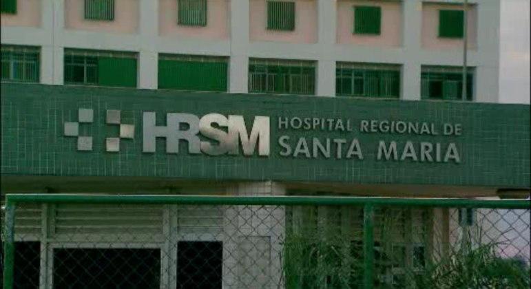 Fachada do Hospital Regional de Santa Maria, que foi reaberto após incêndio