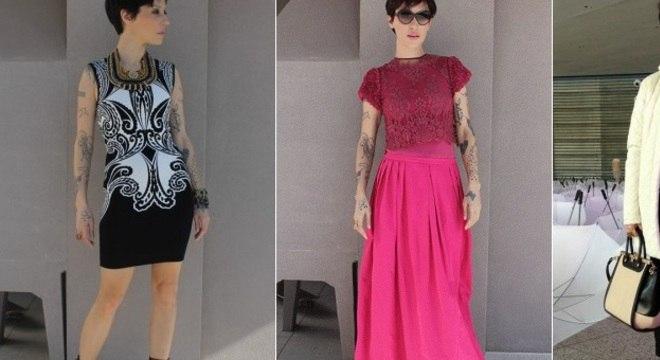 Cris Guerra, dona do blog Hoje Vou Assim, posta, desde 2007, seus looks diariamente na internet