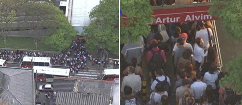 Falha no sistema de Bilhete Único provoca longas filas em algumas estações de metrô