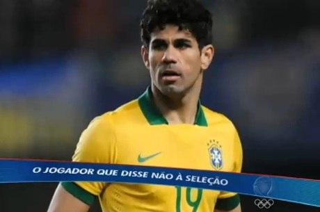 Diego Costa jogou pela seleção em amistosos no início deste ano