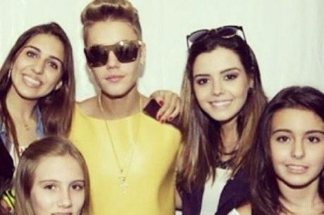 Gi Lancellotti levou a irmãzinha para conhecer Justin Bieber