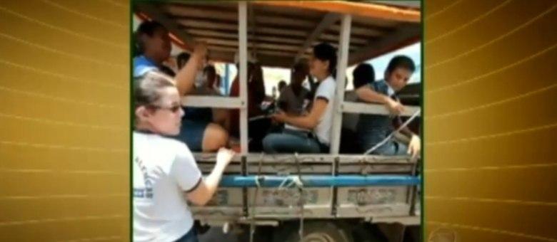 Uso do  pau de arara no transporte escolar é mais comum nas zonas rurais mais distantes da sede do município