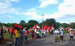 Manifestação a favor de mensaleiros em Brasília