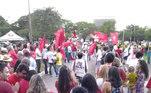 Manifestação a favor de mensaleiros