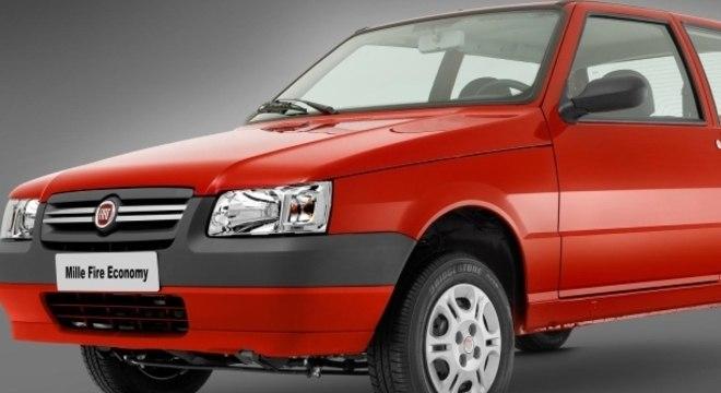 Fiat Uno ficou na segunda posição.