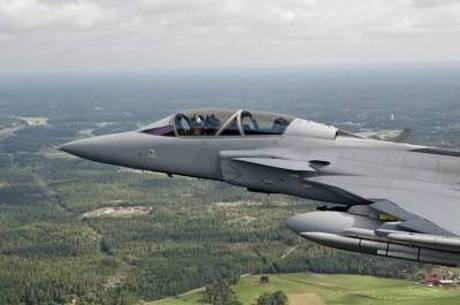 O caça Gripen, da Saab