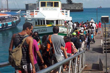 Os catamarãs para Morro de São paulo saíram da capital até as 13h