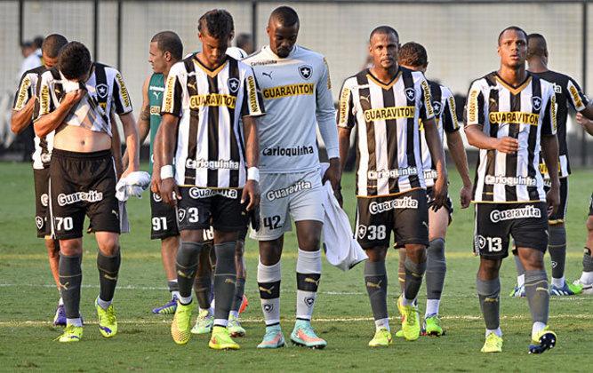 2014 - Botafogo rebaixado / Na 9ª rodada estava na 14ª colocação, com 9 pontos