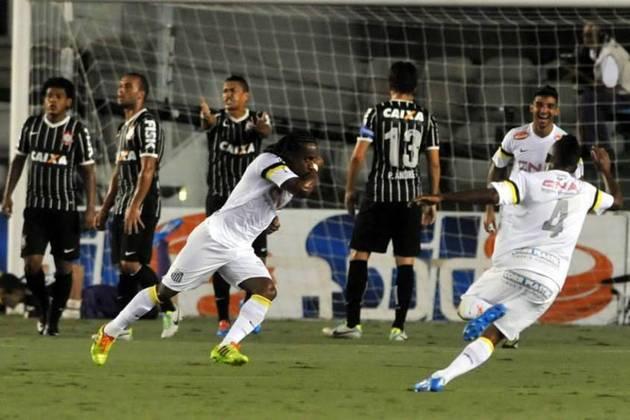 2014 - Santos 5 x 1 Corinthians - A 'mini vingança' do 7 a 1 levado em 2005. O Santos goleou o rival na Vila Belmiro e poderia ter feito mais. Thiago Ribeiro (2), Gabigol, Arouca e Bruno Peres marcaram na goleada.