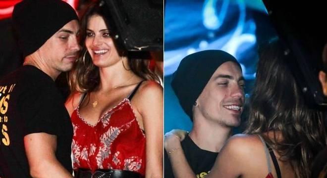 Di Ferrero faz careta ao ver fotógrafo que o flagra juntinho da namorada Isabeli Fontana