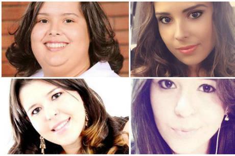 Vanessa (acima) perdeu 45 kg e Fernanda (abaixo) emagreceu 40 kg com dietas e exercícios físicos em 2013